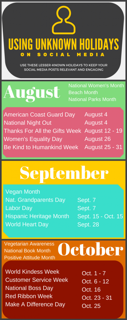 Minor Holidays Infographic